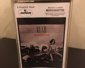 Vintage Rush Permanent Waves Cassette Tape 1980