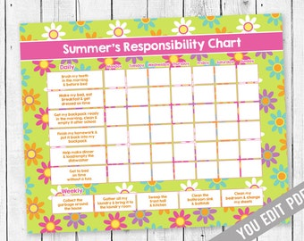 chore charts for teens