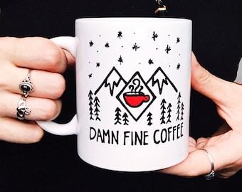 Twin Peaks mug, Damn Fine Coffee mug, Twin Peaks Agent Cooper Mug, Twin Peaks Black Lodge Mug