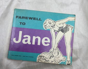 Vintage 1960 Farewell to Jane Daily Mirror Cartoon Book Collectable Item