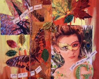 Original Collage - goddess... diva... fairy... nymph... woman