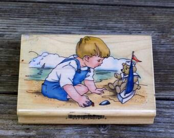 Nancy Cole Inkadinkado Wood Mounted Rubber Stamp 9078 - X