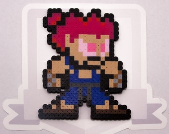 Akuma Perler Bead Sprite Necklace || Street Fighter || Gaming, Accessory, Wearable, Gift