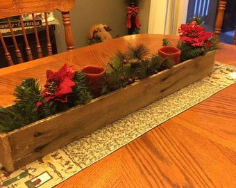 Rustic Reclaimed Wood Centerpiece Boxes