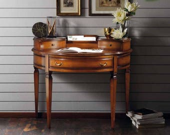 Crescent Desk in solid cherry with secret