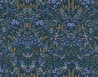 Menagerie - Tapestry Navy - Rifle Paper Co - Cotton and Steel (8031-1)