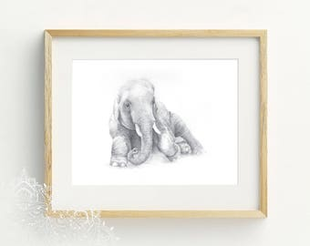 Goddess Elephant Art Print, A4, Bohemian Decor, Bohemian Elephant Wall Art, Elephant Illustration, Wildlife Print, Wildlife Print, Boho Art