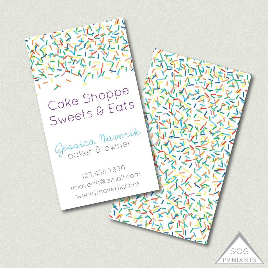 Sprinkle Business Card Baker Business Card Cake Decorator