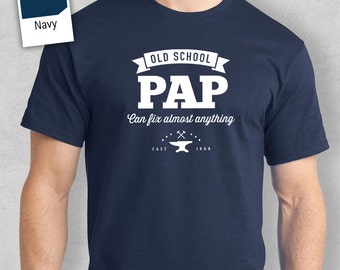 Old School Pap T-shirt, Personalized Pap Gift, Pap Birthday Gift, Pap Gift, Pap Shirt, New Pap Gift, Pap Tshirt
