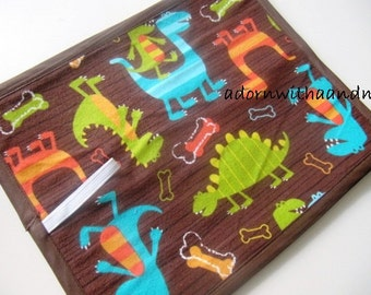 Chalkimamy Dino Dudes TRAVEL chalkboard mat, placemat(a)
