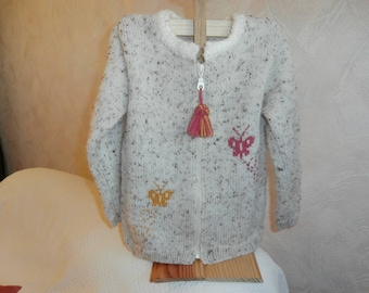 Wool jacket 3 to 4 years, butterfly knit patterns