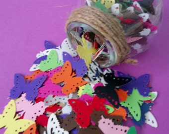 50 Die Cut Butterflies, Multiple Colours, projects, scrapbooking, journal, agenda, Party Supply.
