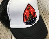 Toddler/Kids Trucker Hat- with Teepee Adventure Patch