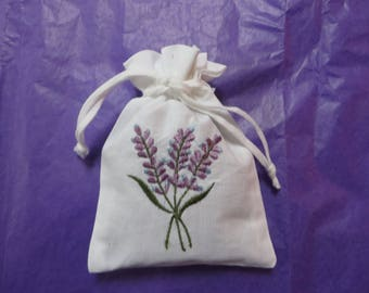 LAVENDER EMBROIDERED SACHETS
