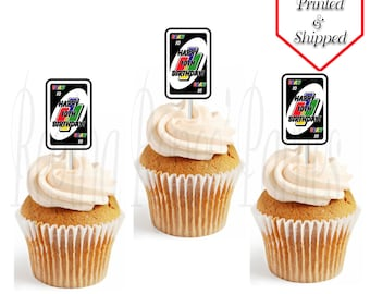 UNO Theme Custom/Personalized Cupcake Toppers - UNO Birthday Party - UNO Cards - Cupcake Toppers - Cupcakes - Digital - Printable - Printed