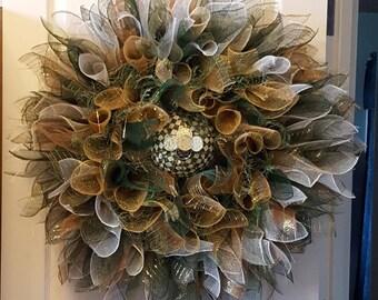 St Patrick's Day Wreath St. Patrick's Day Decor Irish Flower Wreath