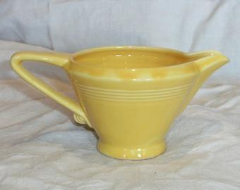 Vintage Yellow Harlequin Creamer
