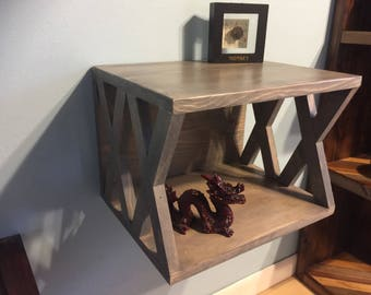 X Floating Nightstand Dimensions (15x12x11)