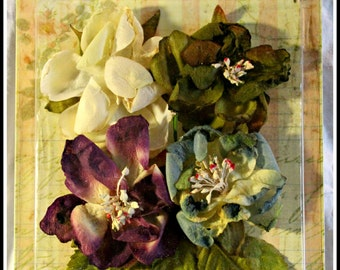 PRICE REDUCED!!  Petaloo Faux Dried Blooms