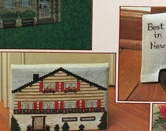 SUMMERSALE Vintage June Grigg designs Down Home Doorstops counted cross stitch Book 14
