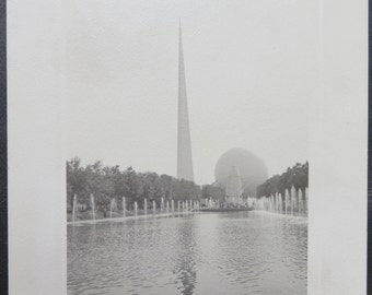 1939 New York World's Fair Multi Photo Album Page - Free Shipping
