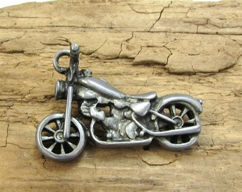 Motorcycle Pendant, 40x26mm Double-Sided Motorcycle Pendant, Jewelry Supplies, Necklace Supplies, Item 312p