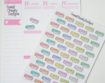 Kawaii Silhouette Stickers!  Perfect for Erin Condren Life Planner, MAMBI/Happy Planner, Plum Planner, Etc.
