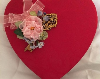 Valentine Box Satin Brocade OOAK