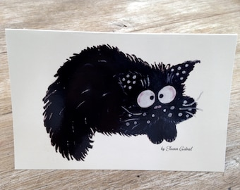Funny folded card with cat fouin all occasions