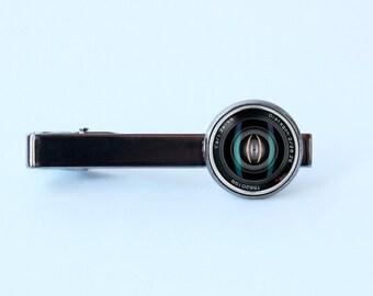 Tie clip camera lens Men jewelry Lens tie clip Husband gift Camera lens tie bar Photographer tie clip Camera lens gift Camera lens jewelry