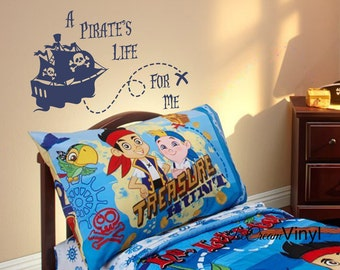 Pirate Wall Decal Nautical Kids Wall Decal Vinyl