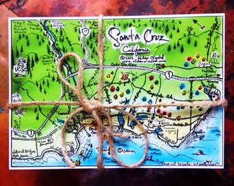 Santa Cruz Postcard pack of one dozen