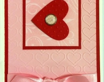 Handmade Valentine Greeting Card