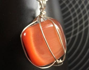 Blood Orange Dalestone Necklace