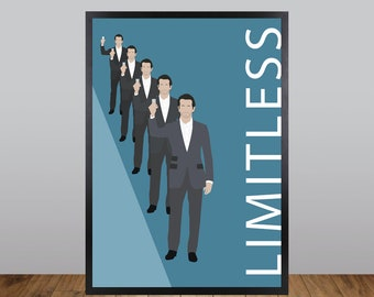 Limitless Print, Minimalist Movie Poster Unofficial Fan Art
