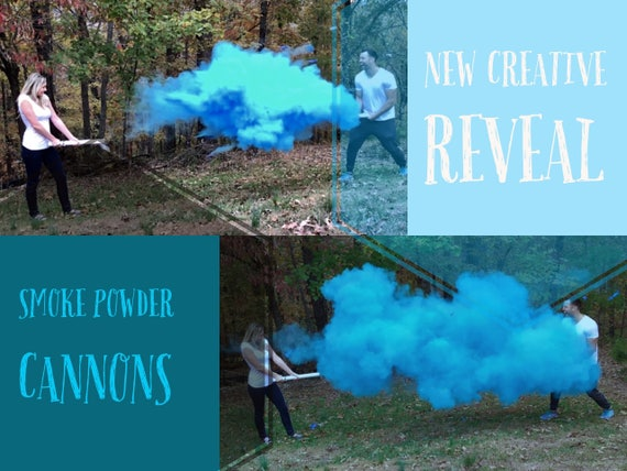 "12"" 16"" 24"" SMOKE POWDER CANNON ™ Gender Reveal Smoke Powder Cannons! New Gender Reveal Idea! Ships Same Day!"