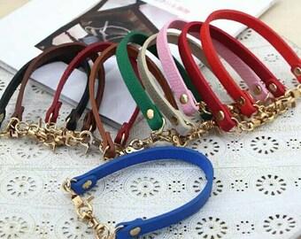 PU Leather Purse Strap 32cm,Strap For Purse Frame,Short Strap,Purse Handle  Replacement,Bag Strap Replacement,4 Pcs /Lot,Leather Handle