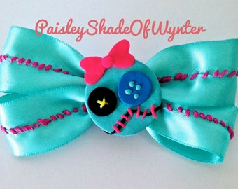 Handmade Lilo And Stitch - Scrump Inspired Hair Bow Clip
