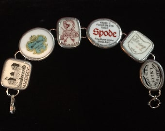 "Broken China ""Trademark"" Bracelet --  #10,018"