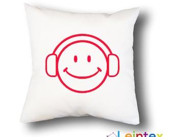 Pillowcase cushion cover 40x40 smiley music No11