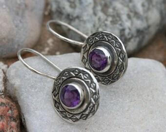 SilverEarrings ,Amethyst  Earrings, Handmade Earrings, 925 Silver Earrings, Birthstone Earrings ,Amethyst  Silver Jewelry,