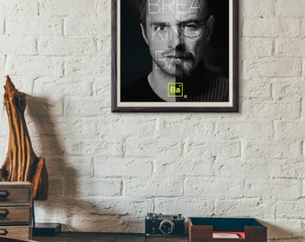 Breaking Bad Poster / Walter White TV Print / B&W