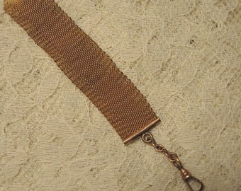 10K Gold Plated Mesh Watch Chain, Men's Watch Chain, Men's Gift, Father's Day, Groom Gift. Best Man Gift