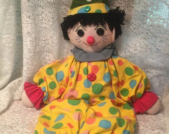 Handmade Folk Art Clown