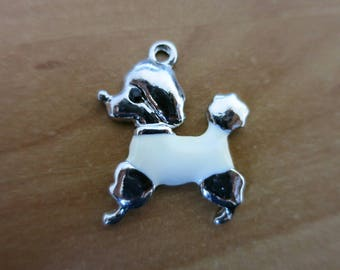 White poodle charm