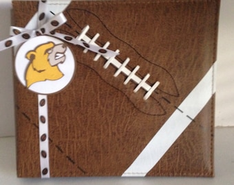 Football 8 x 8 Premade Album Made With  Your School Colors And Mascot