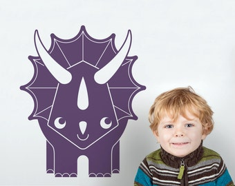 Dinosaur Wall Decal Triceratops Dinosaur Nursery Decor Wall Stickers (LARGE SIZE)