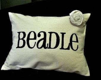 Custom Cotton Last Name Pillow Cover