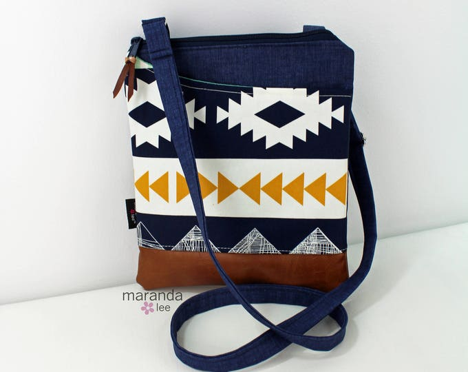 ZOE Messenger Cross Body Sling Bag - Arizona with PU Leather READY to SHIp