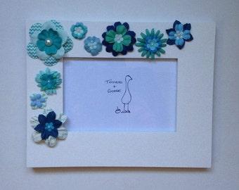 Blue Flower Picture Frame